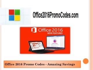 Office 2016 Promo Codes -Standalone