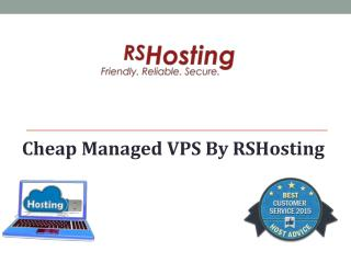 Cheap Managed VPS By RSHosting
