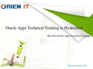 Oracle Apps Technical Training in Hyderabad