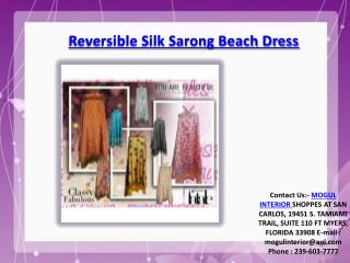 Womens Sarong Reversible Dress