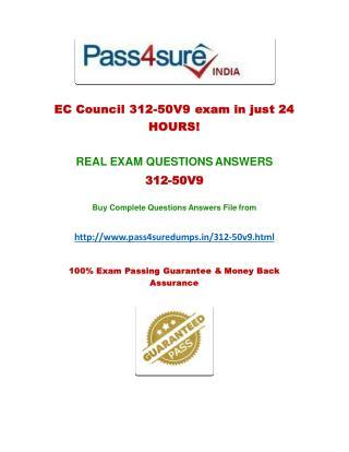 Pass4sure 312-50v9 Exam Questions