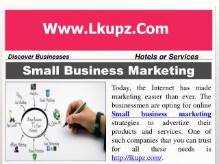 Small Business Marketing Strategies Company