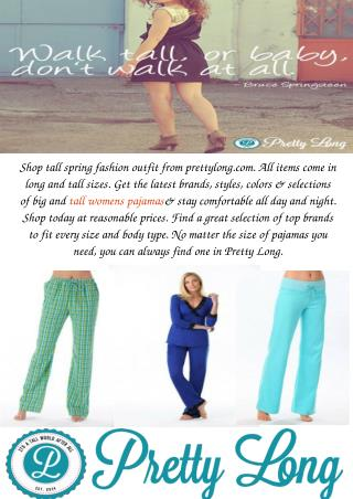 Tall Womens Pajamas