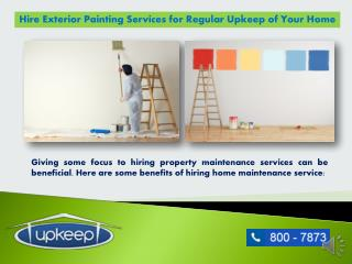 Upkeep Home Maintenance- Exterior Painting in Dubai