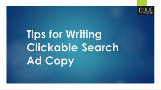 Tips for writing clickable search ad copy