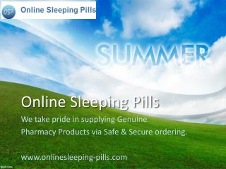 The most common treatment of the sleeping disorders