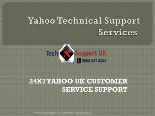 Yahoo support contact number UK