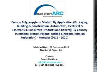 Europe Polypropylene Market: increasing demand for pp material packaging industries during 2015-2020