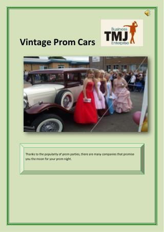 Vintage Prom Cars