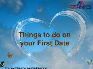 Things to do on your First Date