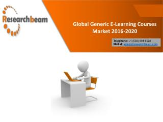 Global Generic E-Learning Courses Market Trends 2016-2020