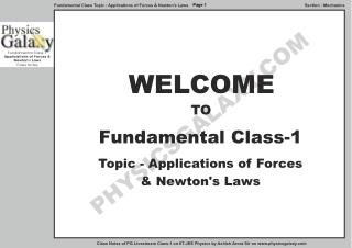 Fundamental Class - 1 by Ashish Arora Notes.