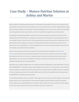 Case Study - Mature Hairline Solution at Ashley and Martin