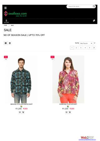 End of Season Sale - 70% off on Online Clothes Shopping