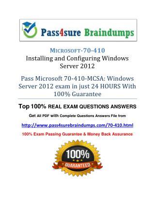 Pass4sure 70-410
