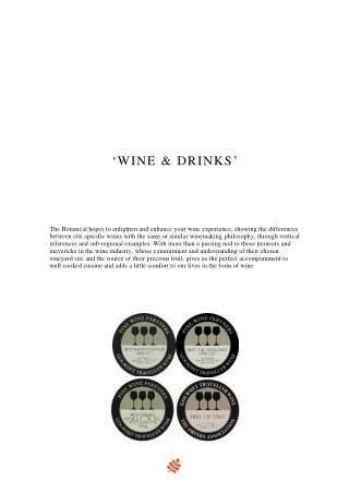 Drinks & Wine Bar - The Botanical