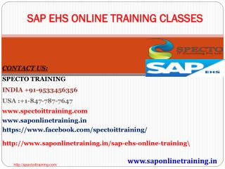 SAP EHS online training | SAP EHS fastrack online training classes