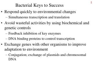 Bacterial Keys to Success