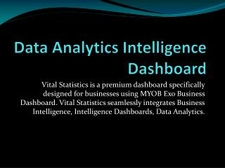 Data Analytics Intelligence Dashboard