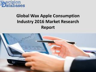 Global Wax Apple Consumption Market: 2016 industry growth with key manufacturers analysis available in new Report