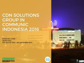 Meet Your IT Consulting Partner in Communic Indonesia 2016