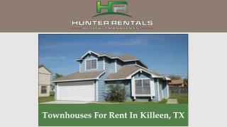 Townhouses For Rent In Killeen, TX