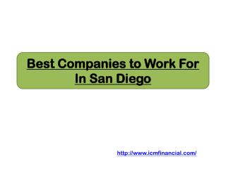 Best Companies to Work For In San Diego
