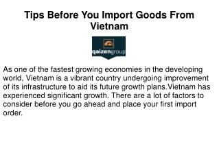 Tips Before You Import Goods From Vietnam