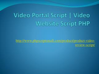 Video Portal Script | Video Website Script PHP