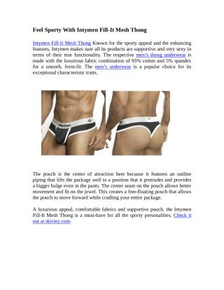 Feel Sporty With Intymen Fill-It Mesh Thong