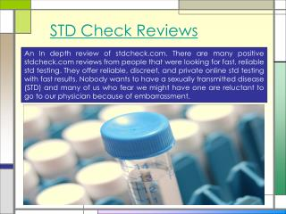 STD Check Reviews