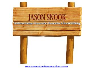 Furniture Restoration in Melbourne - Jason Snook