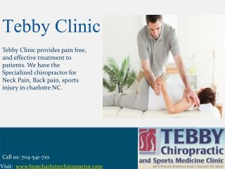 Best Chiropractic Care for Sports Injuries Charlotte NC � Tebby Clinic