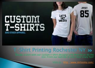 T-Shirt Printing Rochester NY