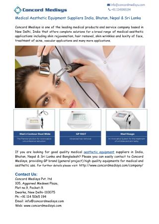 Medical Aesthetic Equipment Suppliers India