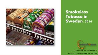 Smokeless Tobacco in Sweden, 2016