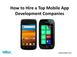How to hire a top mobile app development companies?