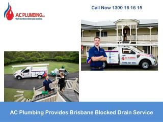 AC Plumbing Provides Brisbane Blocked Drain Service