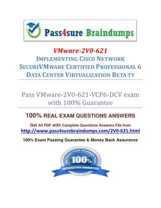 Pass4sure 2V0-621 Study Material