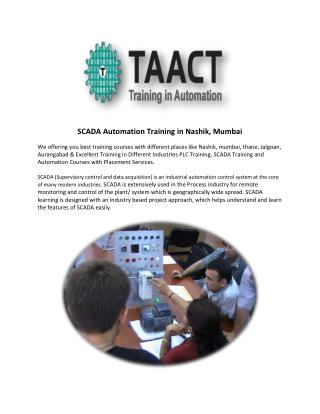 SCADA Automation Training in Nashik, Mumbai