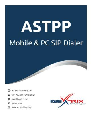 Astpp - Mobile & Pc Sip Dialer