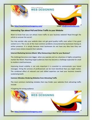 Interesting Tips about Pull and Drive Traffic to your Website