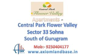 Luxury apartments in Central Park 3 Sohna Gurugram