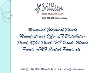 AMF Control Panel Manufacturers India, Wholesalers