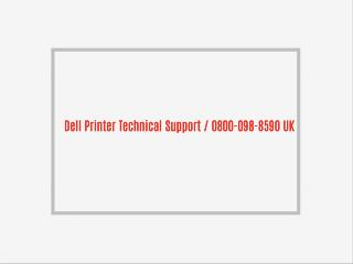 Dell Printer Support UK | 0800-098-8590| Dell Printer Customer Support
