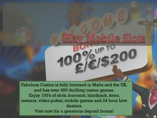 mobile casino slots