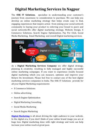 Digital marketing services In Nagpur