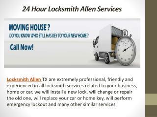 24 Hour Locksmith Allen Services