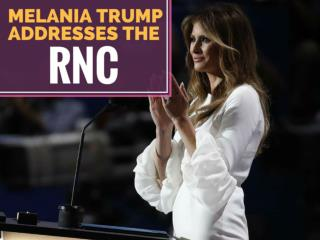Melania Trump addresses the RNC