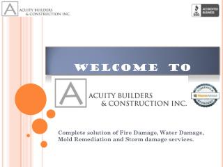 Hire water damage cleaner and water damage reconstruction services